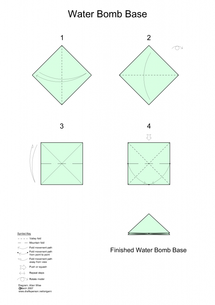 How To Make A Paper Balloon Water Bomb Origami L Origami - Origami ... | 1024x724